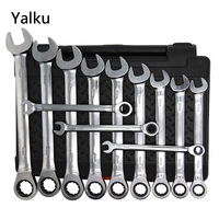 Universal Torque Wrench Head Set 8 19mm Power Drill Ratchet Fixed Head Ratchet Wrench Spanner Ratchet