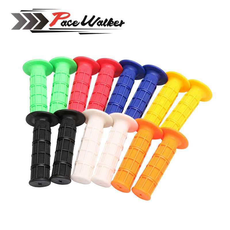 цена на 7 color All handle bars 7/8 of Motorcycle Gel Rubber Handlebar Grips For CRF YZF WRF KXF KLX KTM RMZ Pit Dirt Bike Motocross