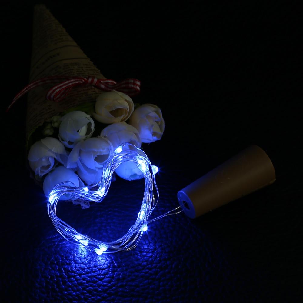 1M 10LED Rézhuzal String Light palackdugóval Led Lights Dekoráció - Üdülési világítás - Fénykép 5