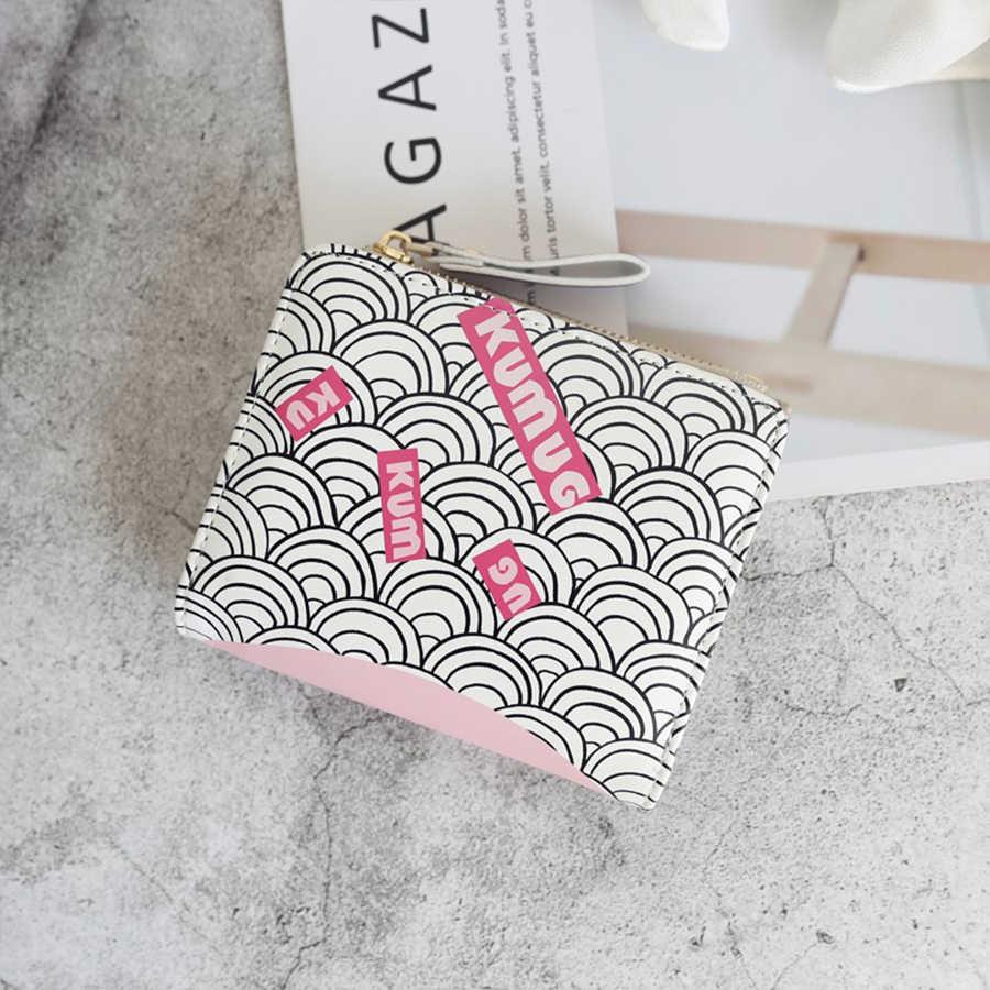 Cartera de mujer pintada con cerrojo para tarjetas de crédito, carteras y monederos para mujer, bolso de teléfono blanco, bolsos de mano para hombre, bolsos de lujo 5Z228