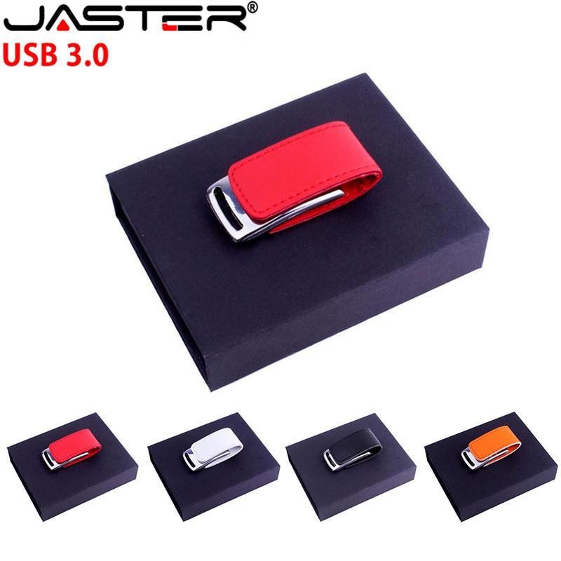 JASTER USB 3.0 customer LOGO metal leather usb + gift box usb flash drive pendrive 4GB 8GB 16GB 32GB 64GB memory stick U diskJASTER USB 3.0 customer LOGO metal leather usb + gift box usb flash drive pendrive 4GB 8GB 16GB 32GB 64GB memory stick U disk