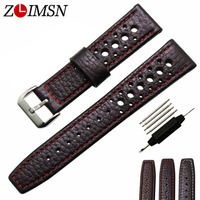 Real Leather Watchbands Black Dark Brown Watch Band Mens Bands Women Watch Strap Sports Belt Metal
