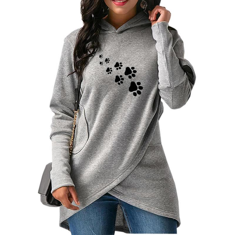 Paw Print Hoodie at The great Cat Store