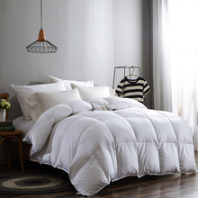100%white duck/goose down winter quilt comforter blanket duvet filling cotton cover twin single queen size 200*150cm