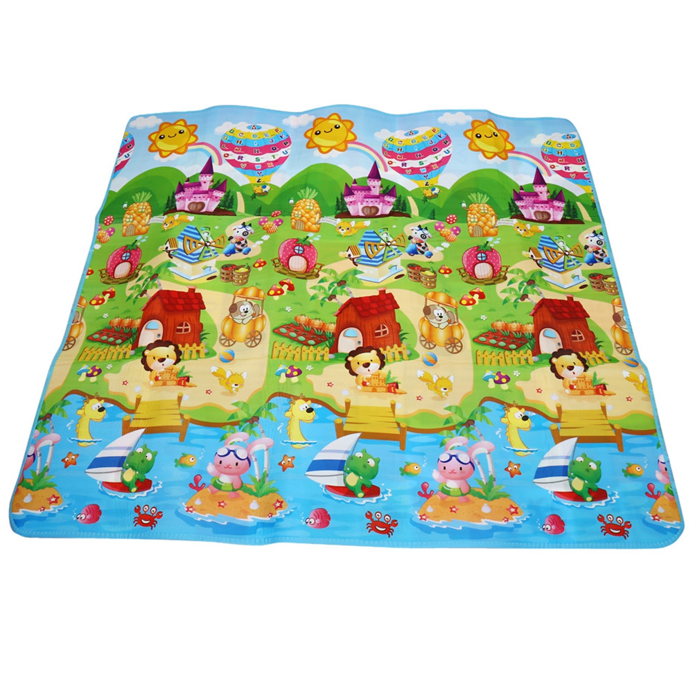Baby Kids Route Map For Children Carpet Kids Toys Game Rug Crawling Pad 120cm W Baby Safety & Health