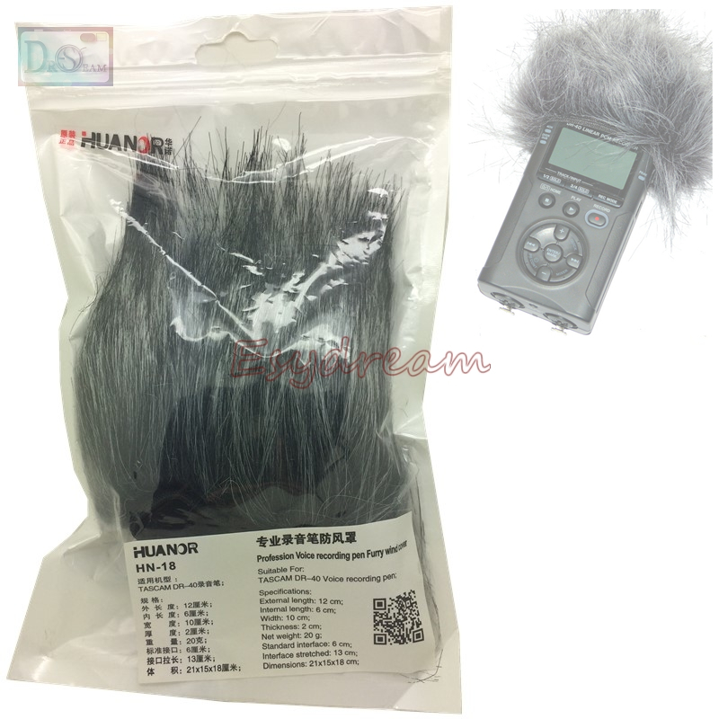 professional outdoor dusty mic furry cover windscreen windshield muff  tascam dr  dr