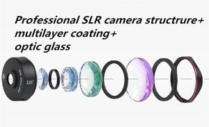 Image 3 - طقم عدسات هاتف بنمط كاميرا DSLR 4 في 1 من Kase II بزاوية واسعة/ماكرو/عين السمكة/عدسة تليفوتوغرافي للهواتف الذكية iPhone 8 سامسونج وهواوي