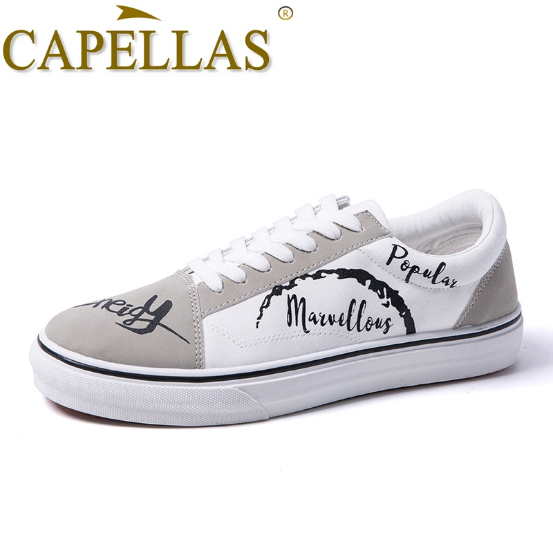 CAPELLAS New Mens Casual Shoes High Quality Fashion Lace Up Men`s - Men's Shoes