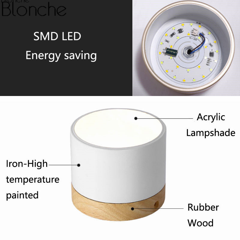 Nordic Iron Wood Ceiling Lights Modern Led Ceiling Lamp For Living Room Bedroom Luminaire Porch Aisle Corridor Lighting Fixtures