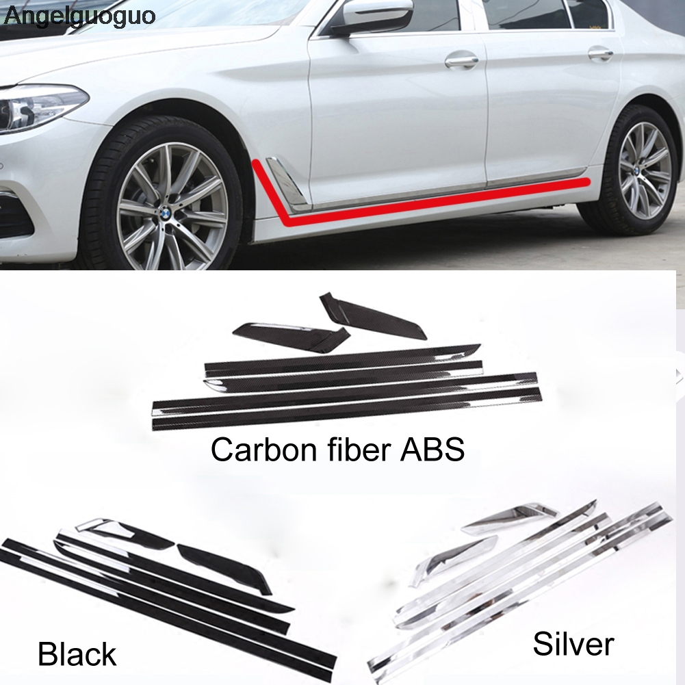 Car styling ABS Car Door Side Strips Cover Trim Set for BMW 5 Series G30 G38