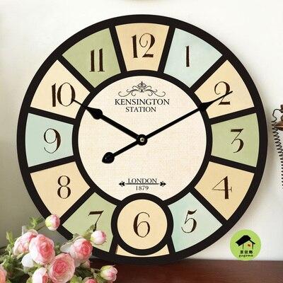 New Best Deal Large Wall Clock New Horloge Murale Quality European Style Vintage Creative Wood Quartz Silent Retro3D Wall Clock