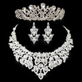 Romantic Wedding Bridal Tiara Crown Veil Wedding Crystal Boutique Headpiece Noiva bridal Veil set Bridal Wedding Veil Jewelry