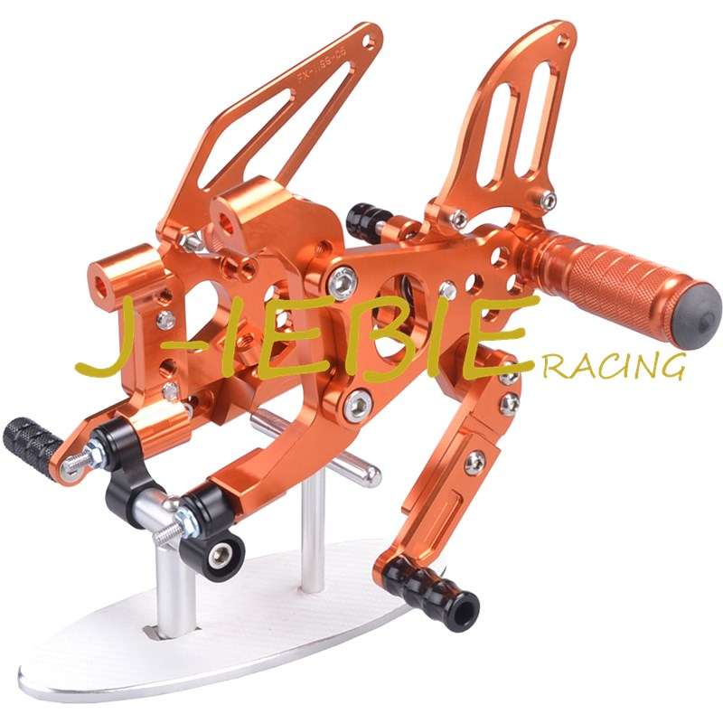CNC Racing Rearset Adjustable Rear Sets Foot pegs Fit For Ducati 899 959 1199 1299 Panigale 2012 2013 2014 2015 2016 ORANGE