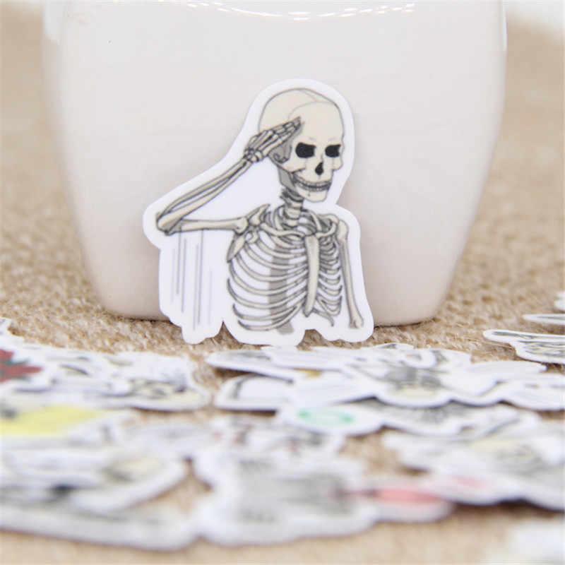 40 шт./партия смешной череп expression DIY декоративная бумажная наклейка для телефона автомобиля ноутбука альбом дневник Рюкзак Детские игрушечные наклейки