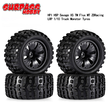 4Pcs 1:10 120x70x12mm Wheels with Tyres for HSP Wltoys ZD Racing HPI Redcat LRP 1/10 Monster Truck RC Car Parts цена