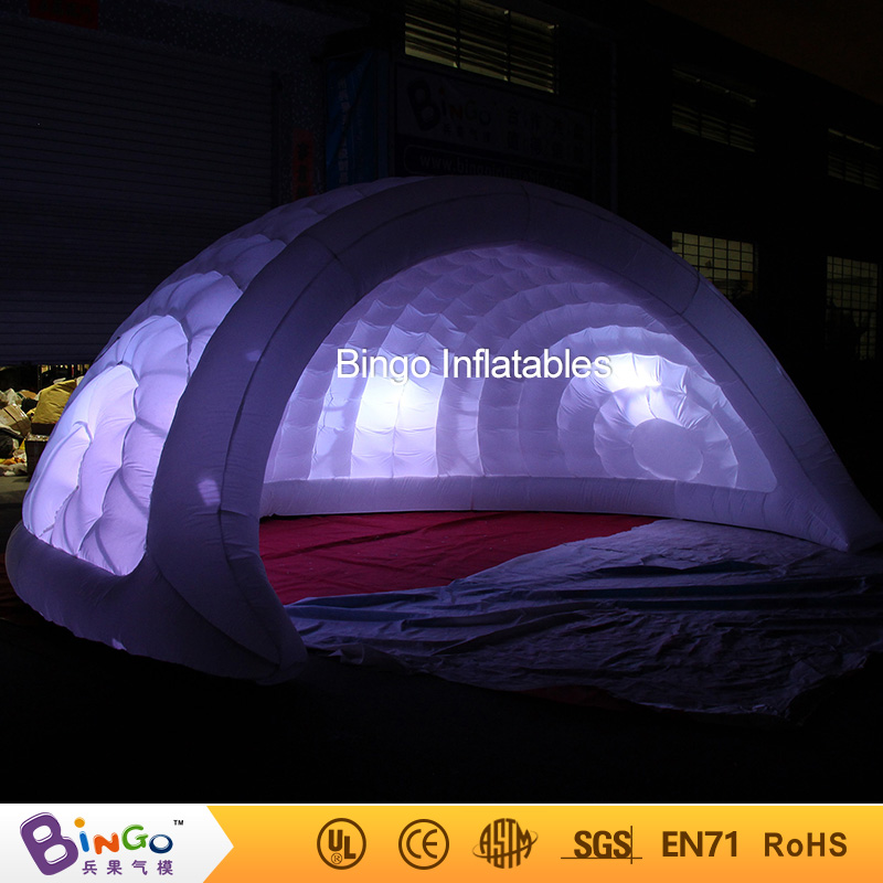 2018 Hot sale 5m LED lighting inflatable dome igloo tent for wedding party  high quality inflatable hemisphere tent toy igloo