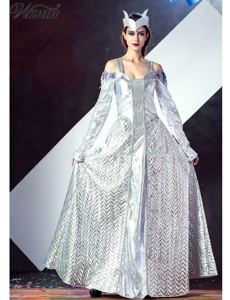 Honey 2018 New Adult Princess Dress Cosplay Halloween Costumes For Women Adult Snow Queen Costume Cosplay Party Fancy Dress