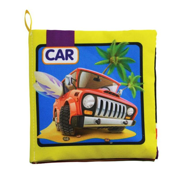 Newborn cartoon sound papper infant toys Car Vegetables Fruits Math Animal soft cloth books baby Learning enlighten story book 1