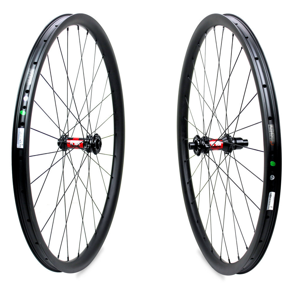 Image 2 - 345g Super Light Weight 29er MTB Rim Carbon Mountain Bike Wheel XC Wheelset Tubeless Ready with DT Swiss 240 hubBicycle Wheel   -