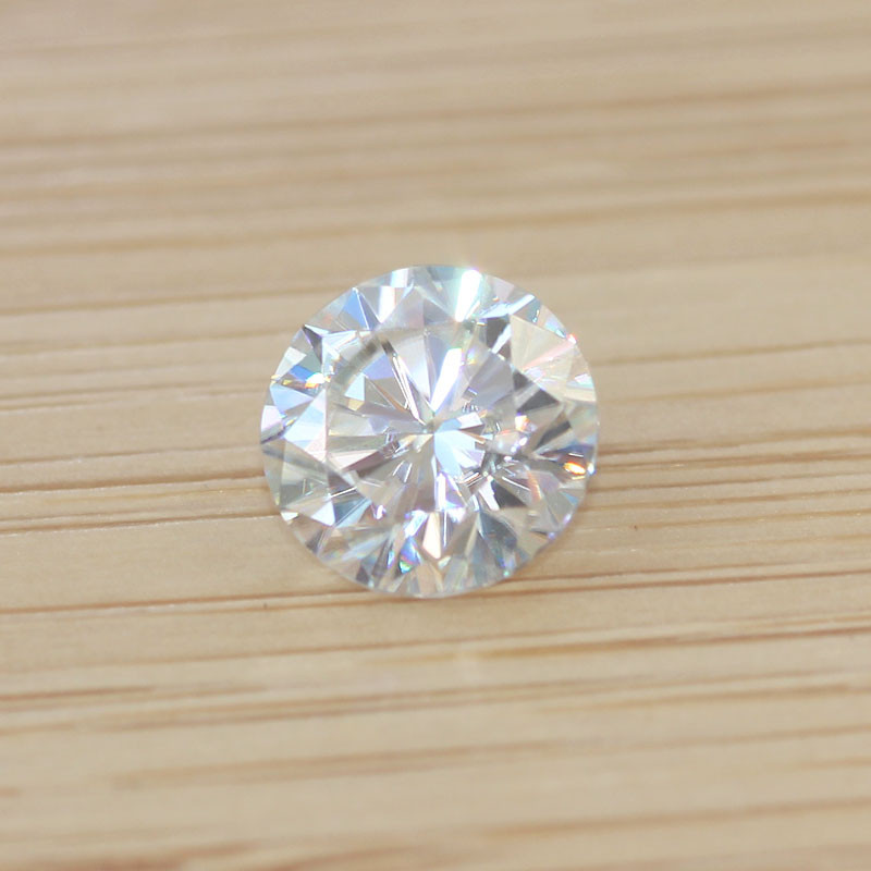 DovEggs One Lot of 2 Piece 5mm GH Color Moissanite Loose Stone for Jewelry Making