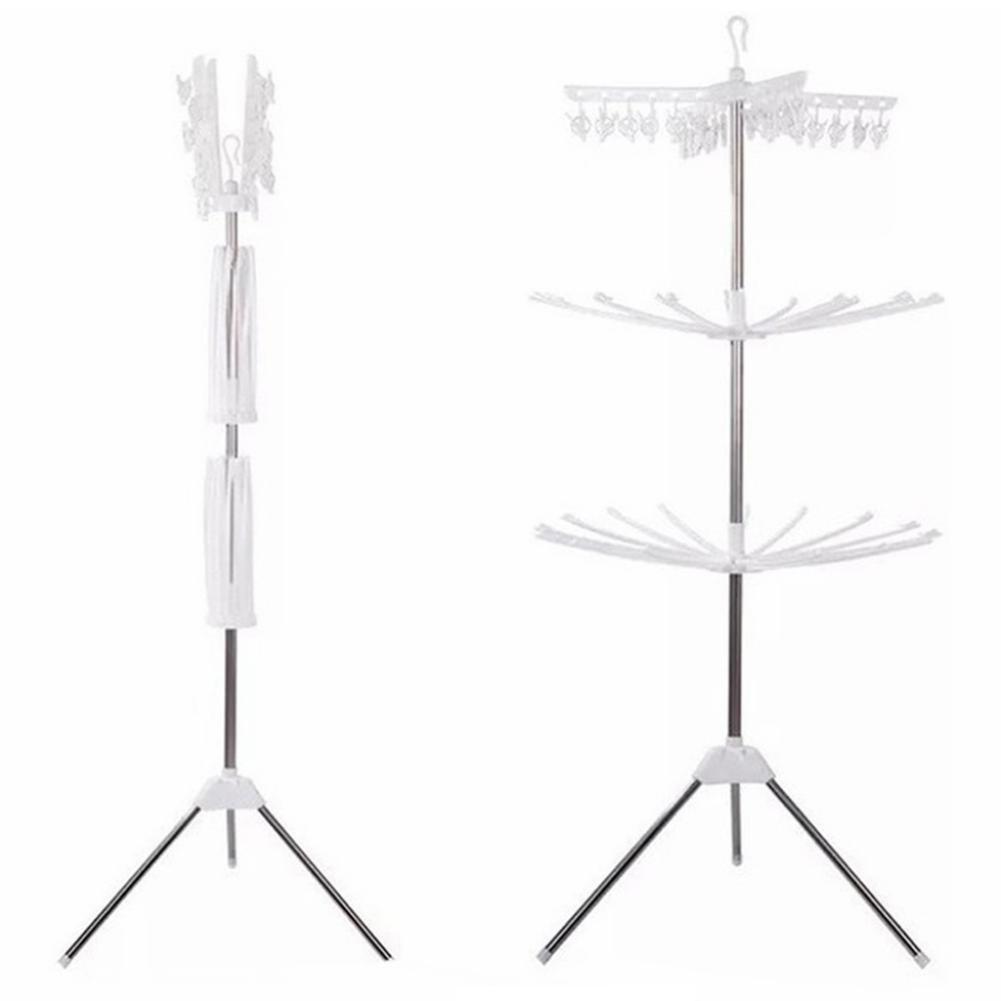 NEW Stainless Steel Double Bar Coat Hanger Portable Household Daily Clothes Single Coat Hanger Floor Movable Coat Hanger