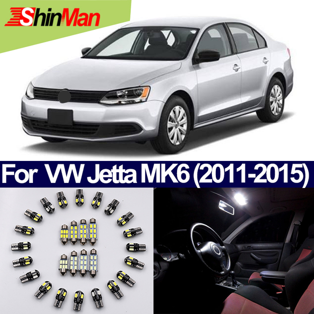ShinMan 13pcs Auto Conversion LED Car Light Interior Lighting Kit For Volkswagen  Jetta MK6 LED Interior