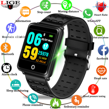 LIGE fitness smart bracelet IP67 waterproof smart wristband heart rate monitor pedometer sport smartwatch for Android ios + band bumvor s2 sport smart band wrist bracelet wristband heart rate monitor ip67 waterproof bluetooth smartband for iphone android