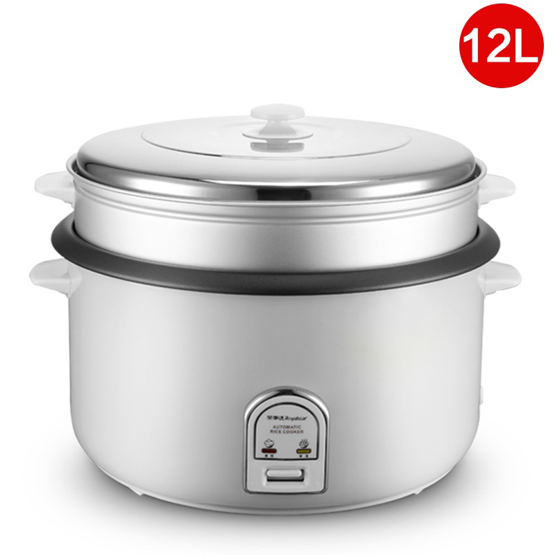 DMWD 12L Large Capacity Rice Cooker Electric Food Steamers Non-stick Multifunctional Cooker For Commercial Top Quality 220V for kenwood pressure cooker 6l multivarka electric cooker 220v 1000w smokehouse teflon coating electric rice cooker crockpots