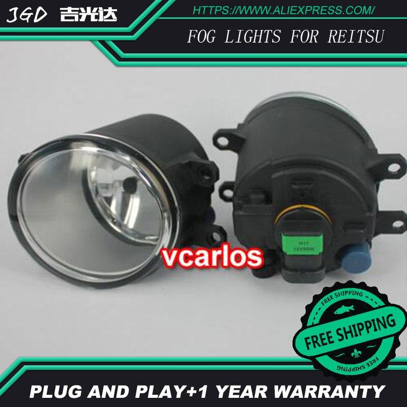 2шт/пара из светодиодов Противотуманные фары для Toyota Reitsu 2010 высокая мощность светодиодные Противотуманные фары авто DRL светодиодные фары освещения