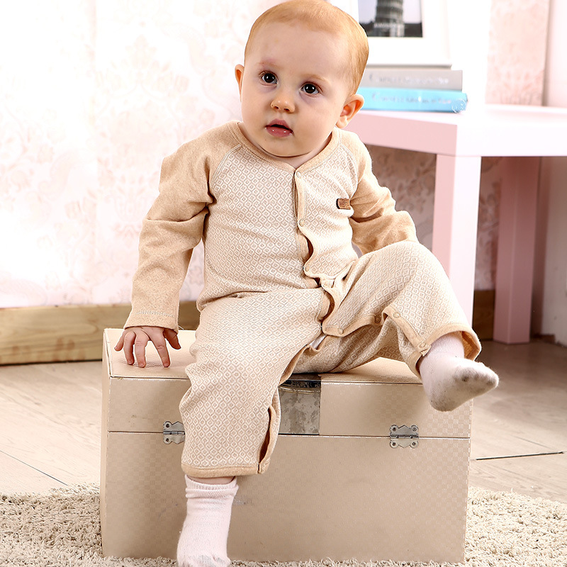 Infant Baby Boys Organic Cotton Long Sleeve Rompers Clothes Newborn Baby Cute Bear Printing Jumpsuit One Pieces Rompers Costume 2017 spring newborn rompers baby boys girls clothes long sleeve cute cartoon face cotton infant jumpsuit queen ropa bebes 0 24m