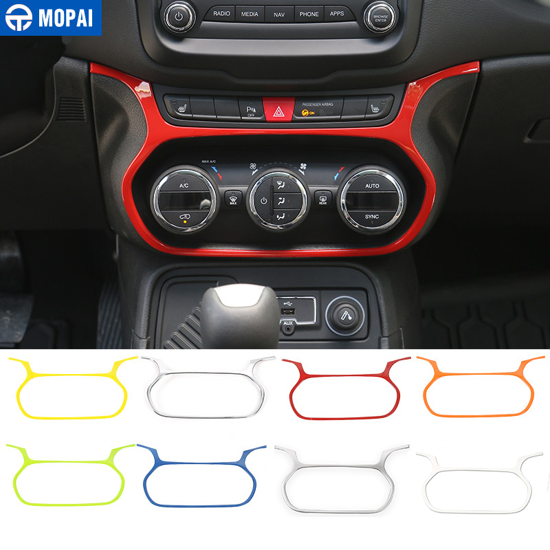 MOPAI Car Interior Air Conditioning Switch Decoration Frame Cover Stickers Accessories for Jeep Renegade 2015-2017 Car Styling цена