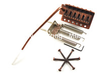 где купить Bronze Electric Guitar Bridge Tremolo Bridge System For Fender Strat Style Electric Guitar Free Shipping дешево