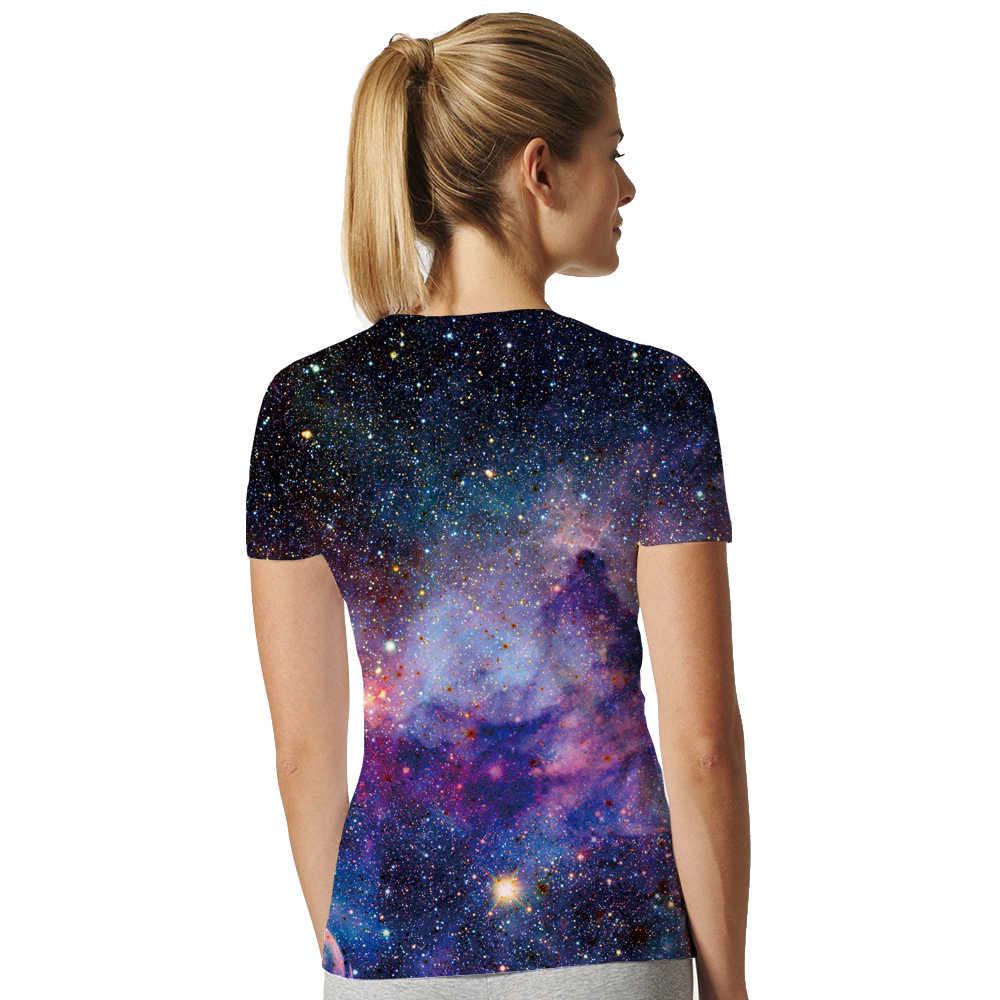 Футболка с изображением Галактики, космическая Вселенная, 3d принт, футболка, Женская Футболка с рукавами, женская брендовая одежда, хип-хоп топ, футболки, летняя классная хип-хоп одежда