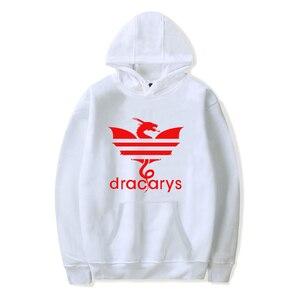 Image 5 - Game Of Throne Dracarys Print Comfortable Popular Hoodies Sweatshirt Men Fashion Hipster Casual Basic Pullovers Hoodies 4XL