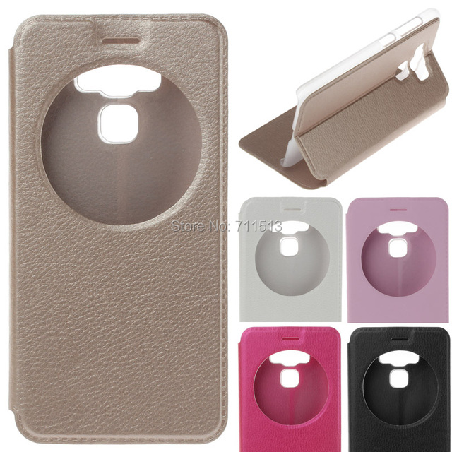 brand new 1e225 32731 US $2.99 |Asus Zenfone 3 Max ZC553KL case window view pu leahter stand flip  case for Asus zenfone 3 max cover 5.5