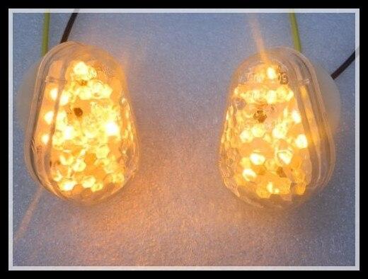 Clear Flush Mount LED Turn Signals Light for Kawasaki Ninja ZZR600 ZX6R 7R 12RR