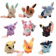 9pcs/lot 12cm Q Version Pikachu Go Umbreon Sylveon Eevee Espeon Jolteon Vaporeon Flareon Glaceon Leafeon Plush Toys Stuffed Doll