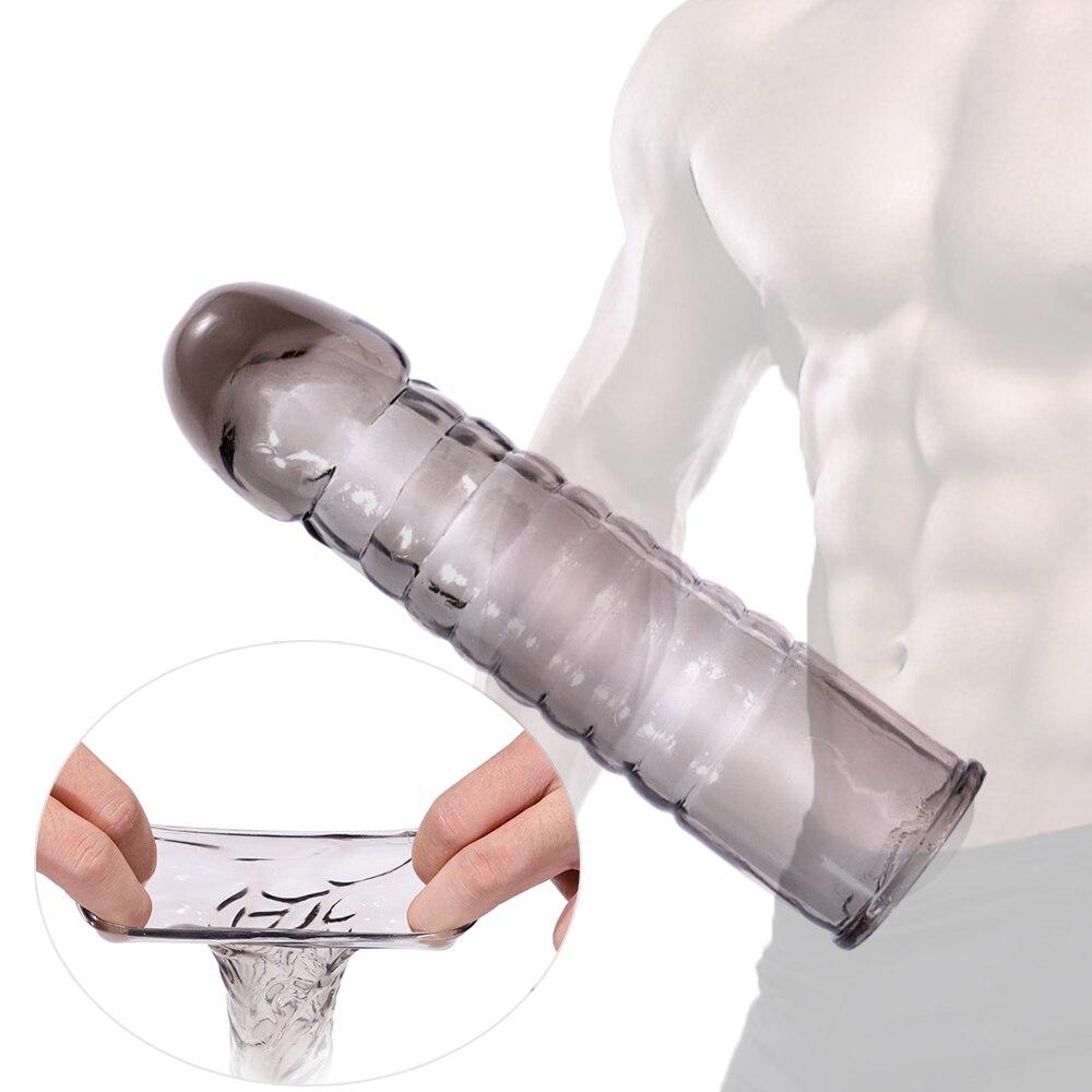 Penis Sleeve Condom Sex Tools For Men Cock Rings For Penis Extender Condones Con Alargador De Pene Condoms For Men