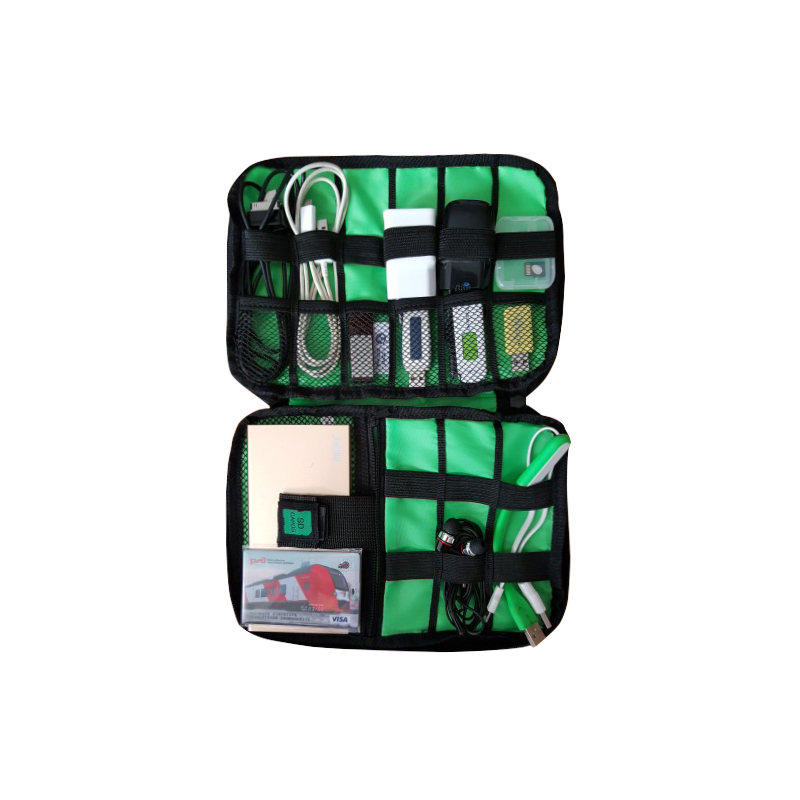 Wulekue New Electronic Accessories Travel Bag Nylon Mens Travel Organizer For Date Line SD Card USB Cable Digital Device Bag