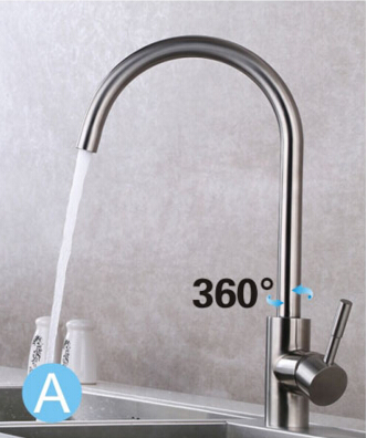total 304 stainless steel no lead safe single lever nickel finished hot and cold kitchen sink faucet,mixer tap super high quality 304 stainless steel hot and cold no lead brushed basin safe sink kitchen faucet with german technology