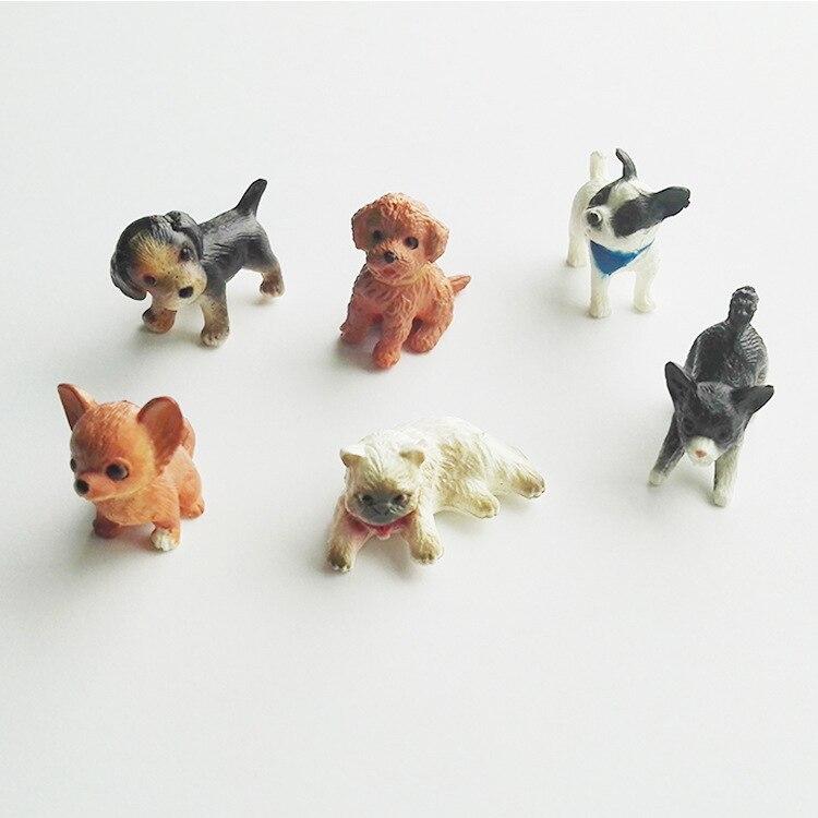 6 Teile/los Simulation Katze Und Hund Puppenhaus Miniatur Modell Puppe Haus Dekoration Geschenk Puppen Zubehör 1:12 Skala