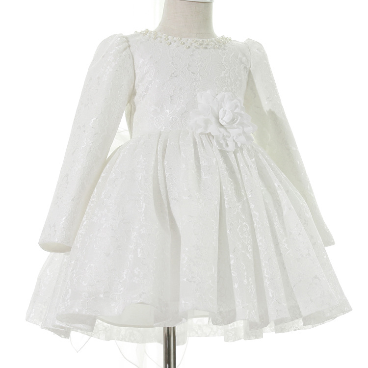 White Lace girls dress princess dress children party wear flower girlwedding party performance white dress girl clothes YL197 family fashion child formal dress red bride dress princess dress clothes flower girl skirt performance wear