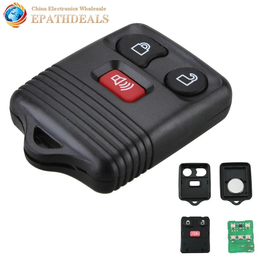 Car Keyless Entry Remote Key Fob Transponder Chip 3 Button for Ford F150 F250 F3