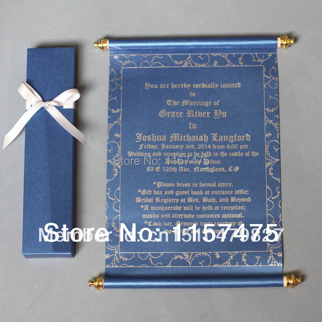 HI2051 - Hot Sale Scroll Invitations for Party / Greeting Cards