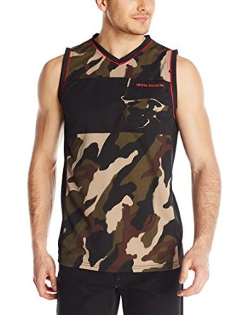 Men's Heavy Metal MX BMX Camouflage Mesh   Tank     Top   USA Size S-XXL(With Print Stain)