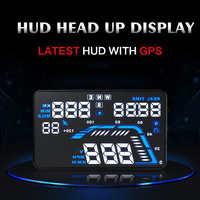 Vente chaude Universelle 5.5 pouce hud affichage de voiture, Auto Vitesse Odomètre GPS Head UP Display Numérique Compteur De Vitesse Sur-vitesse projecteur