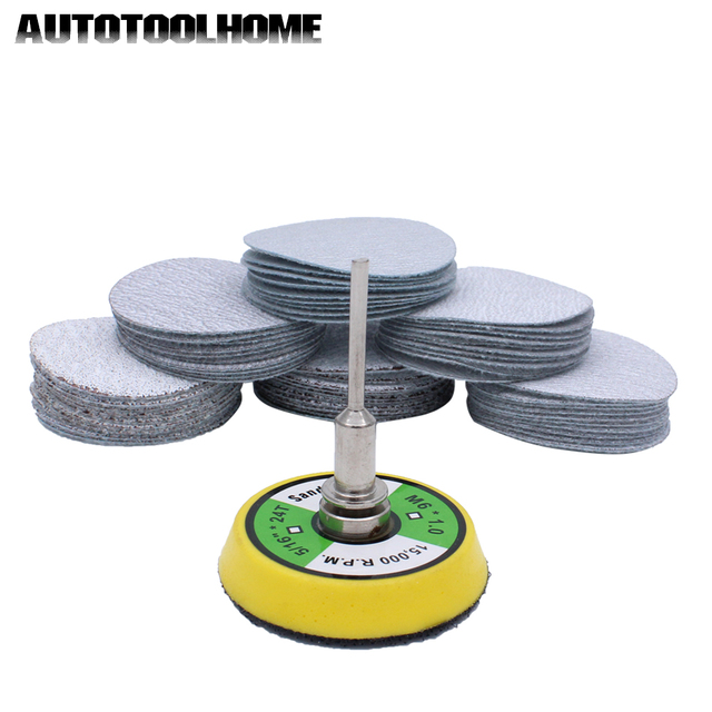 Abrasive Tools 61pc Set 80 600 Mixed Grit 2 Inch Sander Disc Sanding Disk Sand Paper With 50mm Backer Plate For Dremel 4000