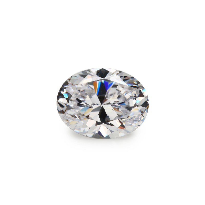 50Pcs Oval Shape 5A White CZ Stone 3x5-10x12mm Synthetic Gems Cubic Zirconia For Jewelry