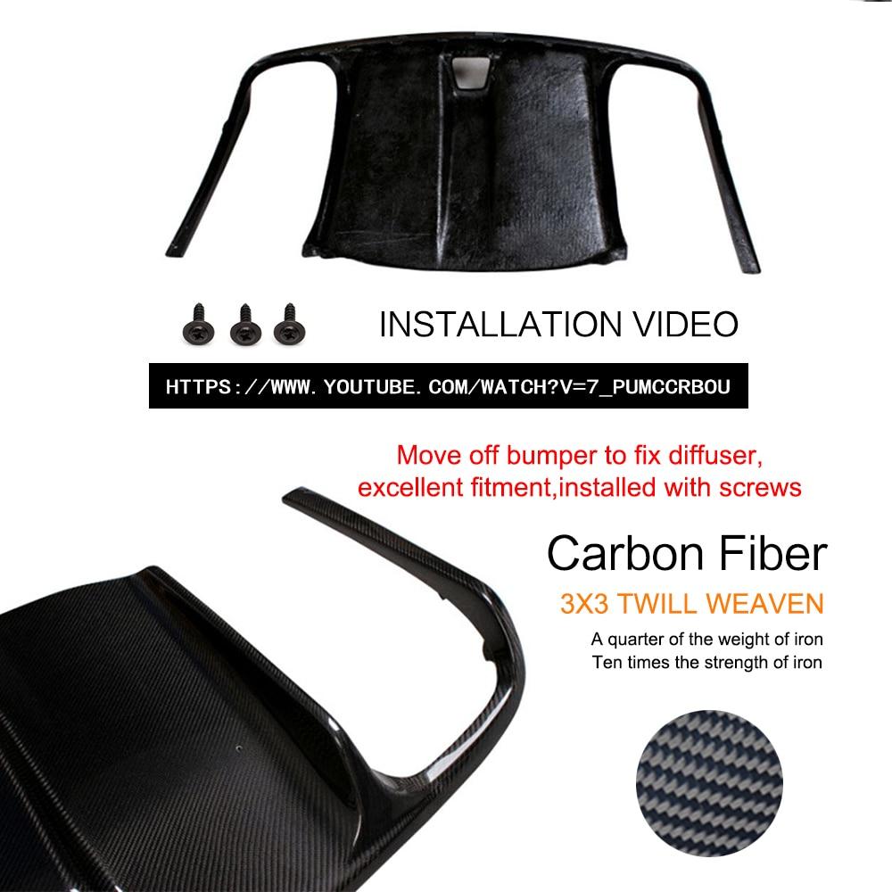 Carbon Fiber / FRP Black Car Bagkofanger diffuser Lip Spoiler - Bilreservedele - Foto 2