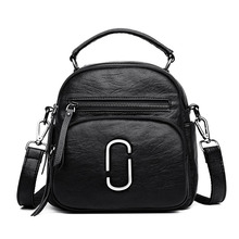 2019 Newest Fashion Lady PU Leather Messenger Womens Backpack High Quality Crossbody Shoulder Bag Multi-purpose Design